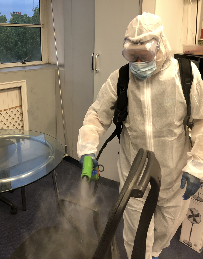 fogging - cleaning and disinfection