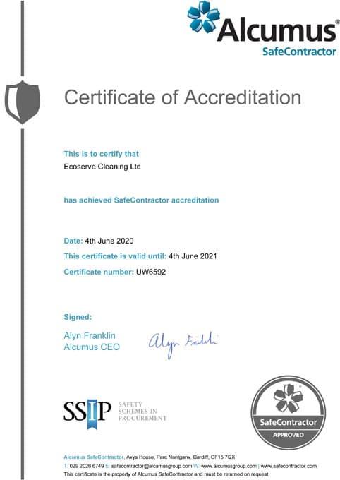 safe contractor-certificate